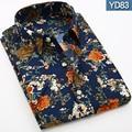height quality print Men print shirt 2016 New Summer Fashion Chemise Short sleeve Mens Dress Shirts Short Sleeve Shirt Men