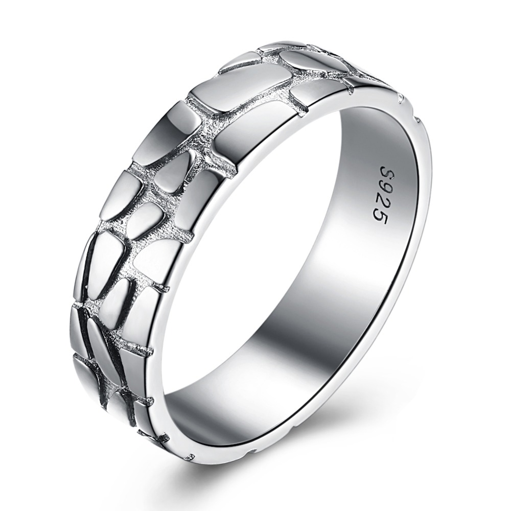 GOMAYA 2018 New 925 Sterling Silver World Cup Soccer Line Rings for Women Men Unique Couple Finger in Rings from Jewelry Accessories