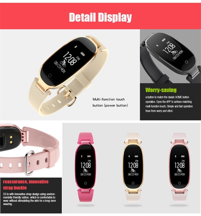 MeiBoAll S3 Smart Band Narukvica Djevojka Žene Heart Rate Monitor - Pametna elektronika - Foto 6