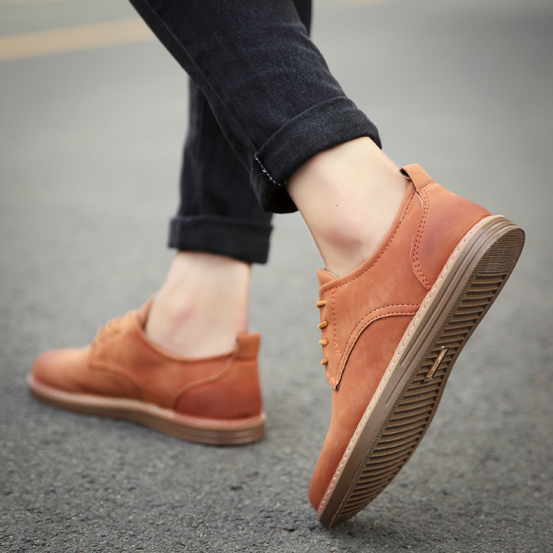 fashion leather casual shoes men comfortable leisure moccasins cheap dress male footwear work elegant boy oxford shoes for m (35)