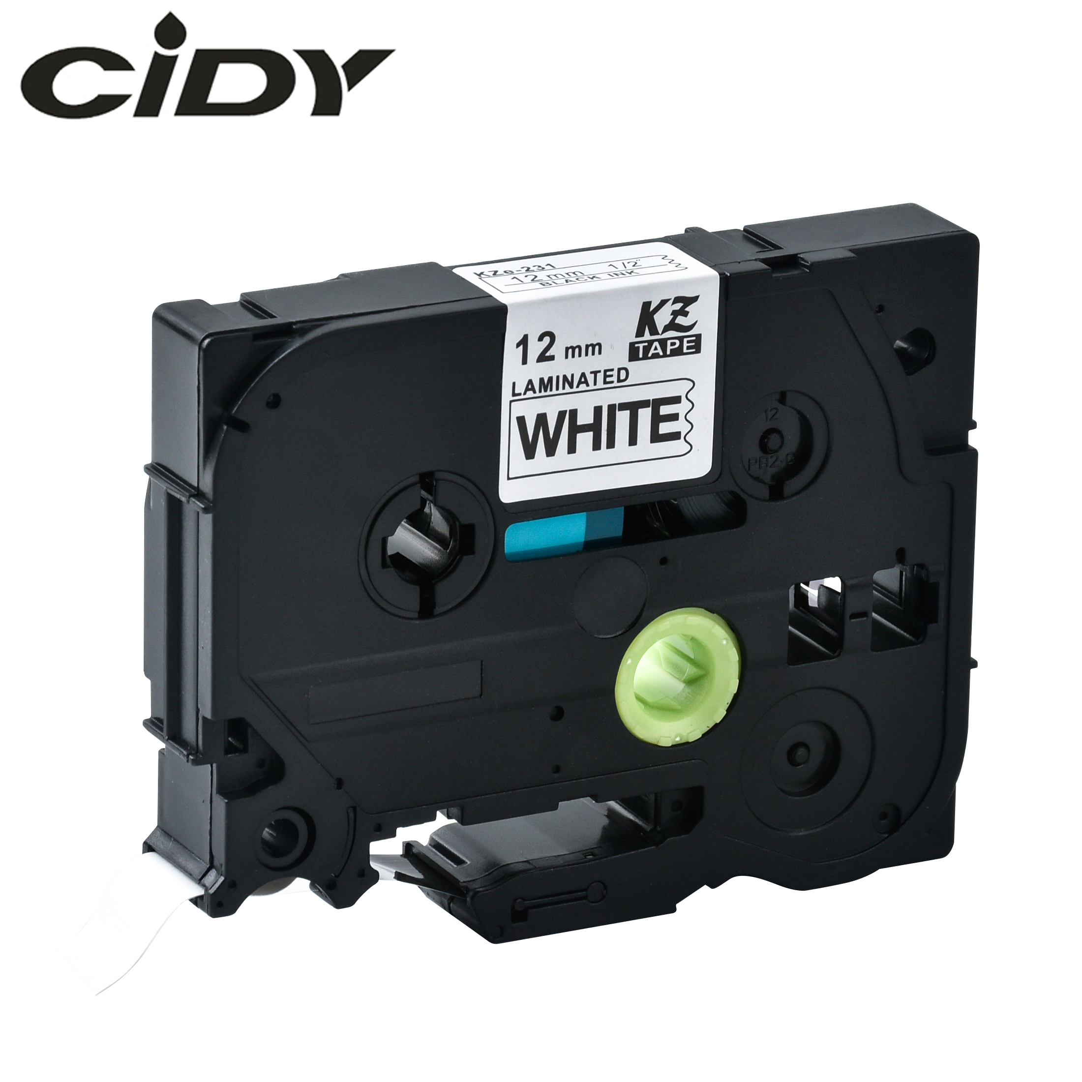 CIDY Compatible p touch tz231 tze231 12mm Black on white label tape tze 231 tz 231