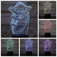 Diamond Rings 3d Led Lamp Bedside gece lambasi Lampara Rgb Boy Child Kids Baby Birthday Gifts Usb Night Light Neon