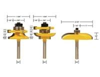 3pcs Set SHK 1 4 High Grade Tenon Cabinet Door Milling Cutter Knife Edge Milling Machine