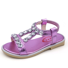 Купить с кэшбэком 2018 New Summer Baby Girl Sandal Children Beach Sandal Rhinestone princess sandal Fashion Rhinestone Kids Girls Shoes
