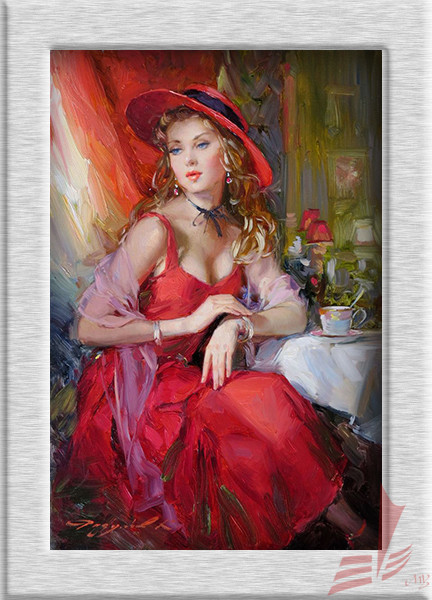 beautiful girl HD print oil painting wall art picture living room painting mural modern decorative painting no frame