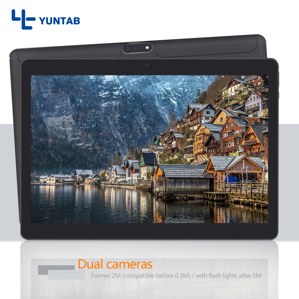 New arrival!! Yuntab 10.1inch K107 Android5.1 Tablet PC Quad-Core with support Dual Sim Card Slots IPS screen 1280X800(black) yuntab 4g phablet h8 android 6 0 tablet pc quad core touch screen 1280 800 with dual camera and dual sim slots black