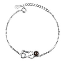 Solid 925 Sterling Silver Jewelry Girls Tik tok Chain Link Bracelet for Teenagers Female Internet Celebrity Love Gift