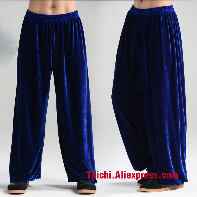 Winter Tai Chi Pants  Velvet Kung Fu Martial Art Pants Yoga