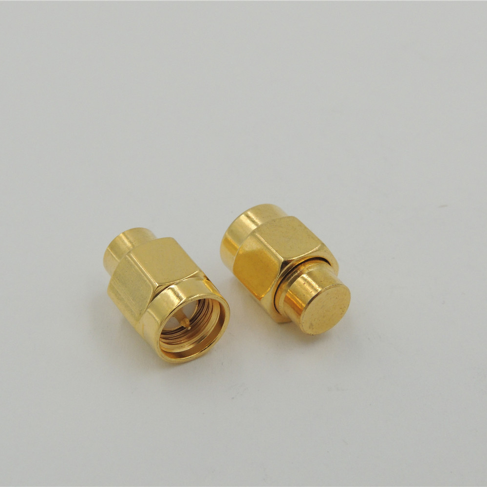 50 pcs 50 Ohm 1w Laboratory essential brass SMA Male connector RF Coaxial Termination Dummy LOADS
