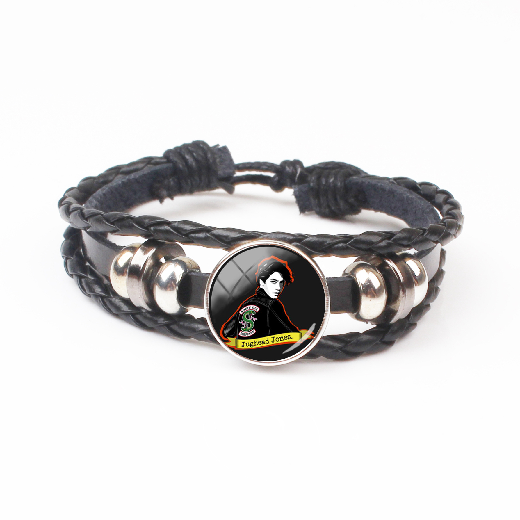 2018 New Jughead Leather Bracelet Riverdale Pendant Mystery Glass Dome Photo Bracelet Black Craft Jewelry bracelet