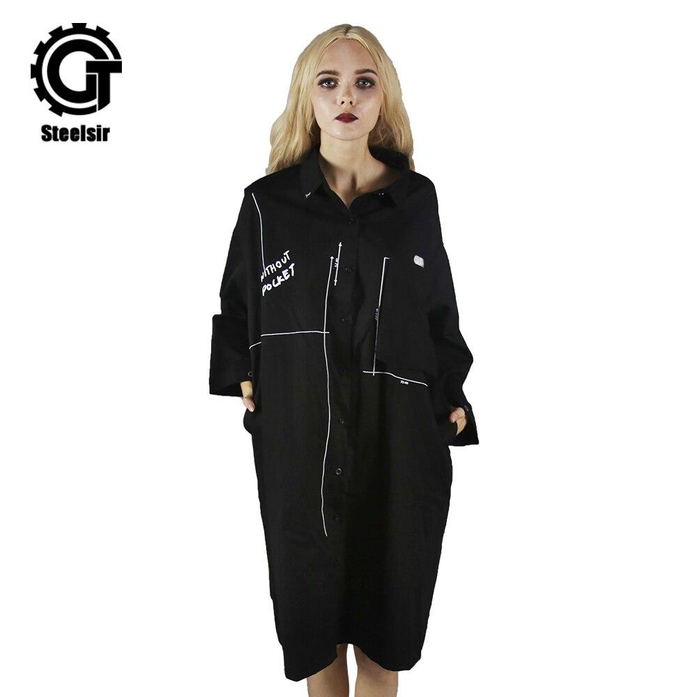 Lâche Longues Femelle Streat Casual Pour Manches Femmes Mode Long Manteau Oversize Printemps Outwear Bureau Noir À Filles Automne wZggq8TWt
