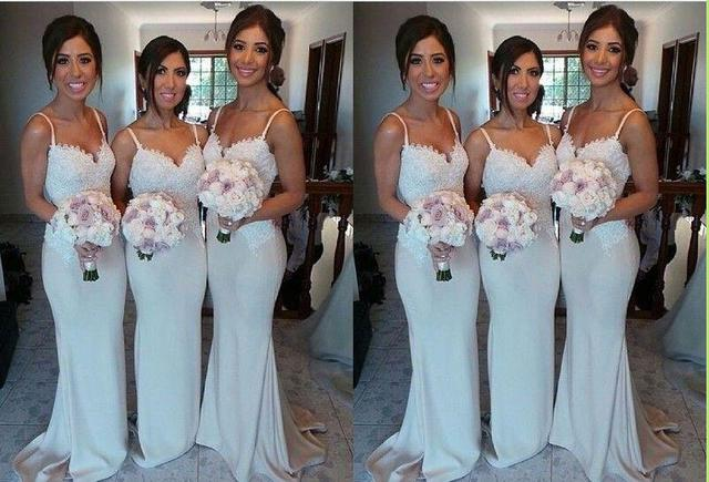 dae7e9d787810 Sweetheart Lace Bridesmaid Gown Navy  Blue/Peach/Ivory/Champagne/Red/Silver/Yellow Lace Chiffon Bridesmaid Dresses  Free Shipping
