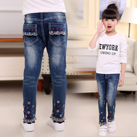 2018 Spring Autumn Girls Jeans Pants Children S Clothing Jeans Blue Trousers Casual Pants Baby Children
