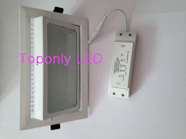 Новая квадратная Светодиодная лампа 20 Вт 45 градусов вращающаяся AC100 240V теплый белый 3000 К модифицированная для замены традиционного светильника MBN200