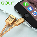 100% de GOLF de Metal Trenzada Durable Cargador de Sincronización de Datos Cable de Carga USB Cable Para el iphone 5/5S/5c 6/6 s iPad 4 Aire 2 Carga Rápida alambre