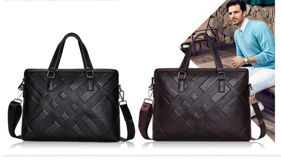 Nouvelle mallette d'affaires en cuir sac d'ordinateur de voyage en plein air sac à main en cuir pour hommes