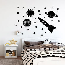 Plane Sticker Star Roket  Art Waterproof Wall Stickers for Living Room Company School Office Decoration naklejki