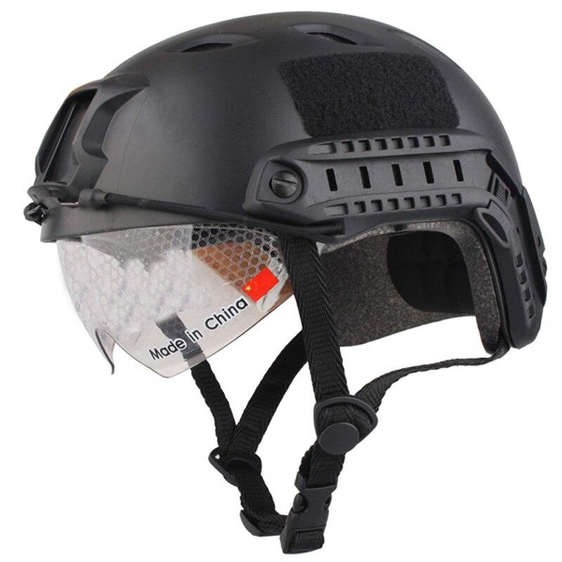 Спортивный шлем 2017 новое лошадь Capacete Airsoft Пейнтбол База Перейти Шлемы защитные очки Военная Униформа Тактика для Охота ...