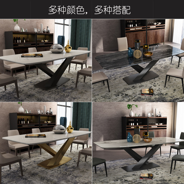Marble Rectangular Dining Table 2