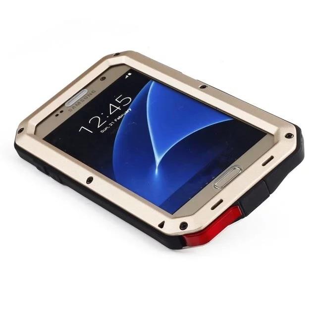imágenes para Resistente a prueba de golpes Híbrido de Metal Anti Choque Heavy Duty Armor Caja Del Teléfono para Samsung Galaxy S6 S7 S5 Nota 5 4 Cubierta Protectora Coque