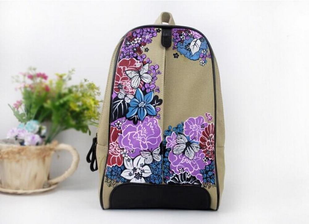 Canvas Rucksack Backpack School Book Shoulder Chinese Fashion Retro - Backpacks