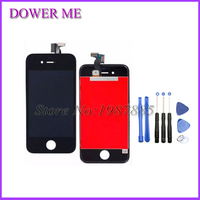 Free Shipping 100 Guarantee For IPhone 4 4s LCD Display Touch Screen Digitizer Frame Assembly White