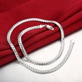 "Fashion 925 Silver Necklaces Chain For Men Charm 20"" 5MM Snake Chain Jewelry  Long Necklace hommes joyas de plata 925 SN130"
