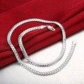 """Moda 925 de Plata Collares de Cadena Para Los Hombres Encanto 20 """"5 MM Serpiente Cadena de La Joyería Largo Collar de joyas de plata 925 SN130 hommes"""