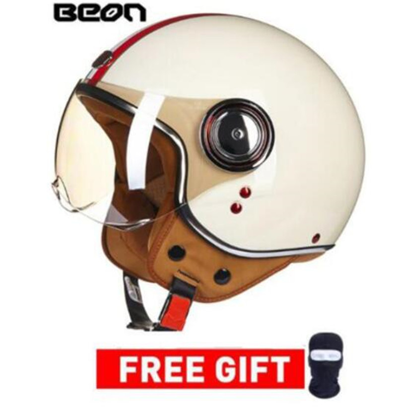 Qualified Beon Motorcycle Helmet Chopper 3/4 Open Face Vintage Helmet Moto Casque Casco Capacete Men Women Scooter Motorbike Helmet Motorcycle Accessories & Parts