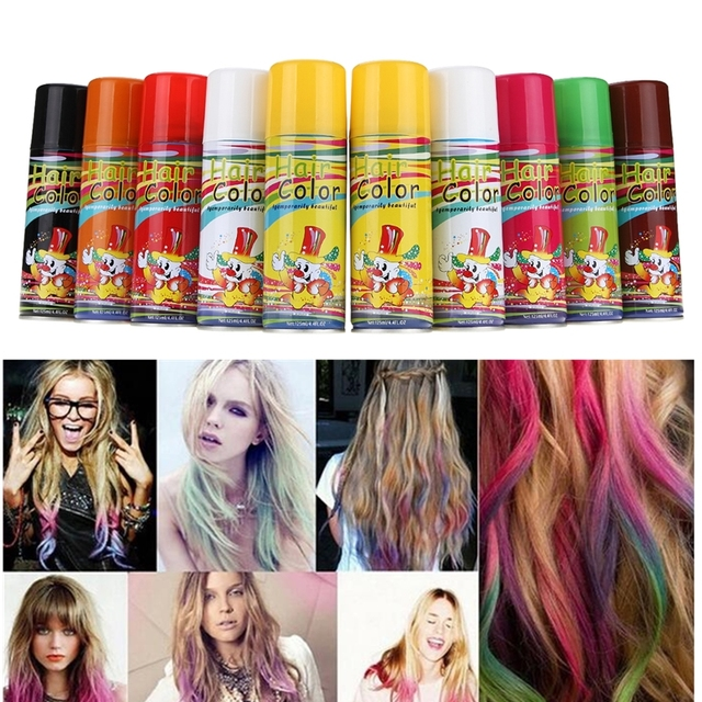 125ml 8 Colors Hair Color Coloring Dyeing Spray Home Diy Cosplay