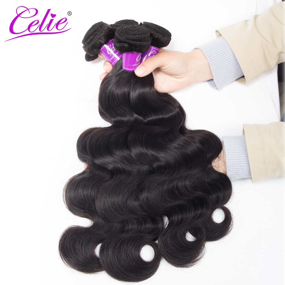Celie Hair Peruvian Body Wave 4 Pcs Lot Natural Color Human Hair Extensions Remy Peruvian Hair