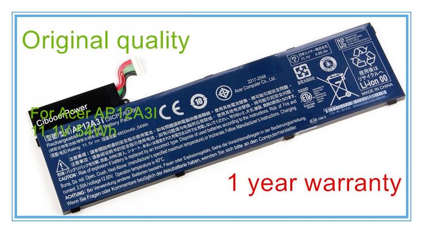 Ordinateur portable Batterie D'ordinateur Portable Pour Ultra M3 M5 M3-581TG-72634G25Mnkk M5-481TG-6814 M5-481 AP12A3i AP12A4i