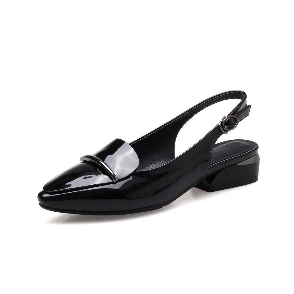 Faible Dames jaune 2018 Orteil rouge Escarpins Noir Femmes Chaussures Carrés Poined New Style Femme Summer Pompes Talons Nnywvm8O0