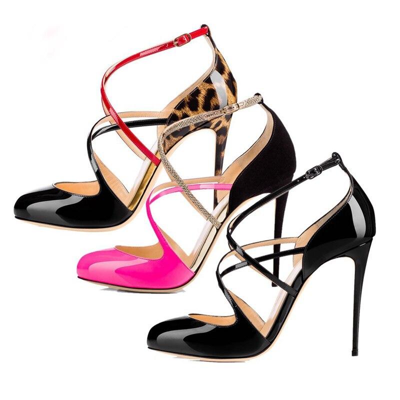35 bao Tacón Alto De Black Thin Heel Mujeres 46 Mujer Dedo Correa Lady Tamaño Wen Zapatos Pie Nueva Sandalias Punta Cruz Leopardo red Sexy B260 Moda Partido Del 4xqHxU1wA
