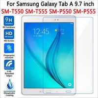 """5 piezas Protector de pantalla para Samsung Galaxy Tab A 9,7 T550 T551 T555 vidrio templado para SM-T550 9,7 """"de protección película Premium"""