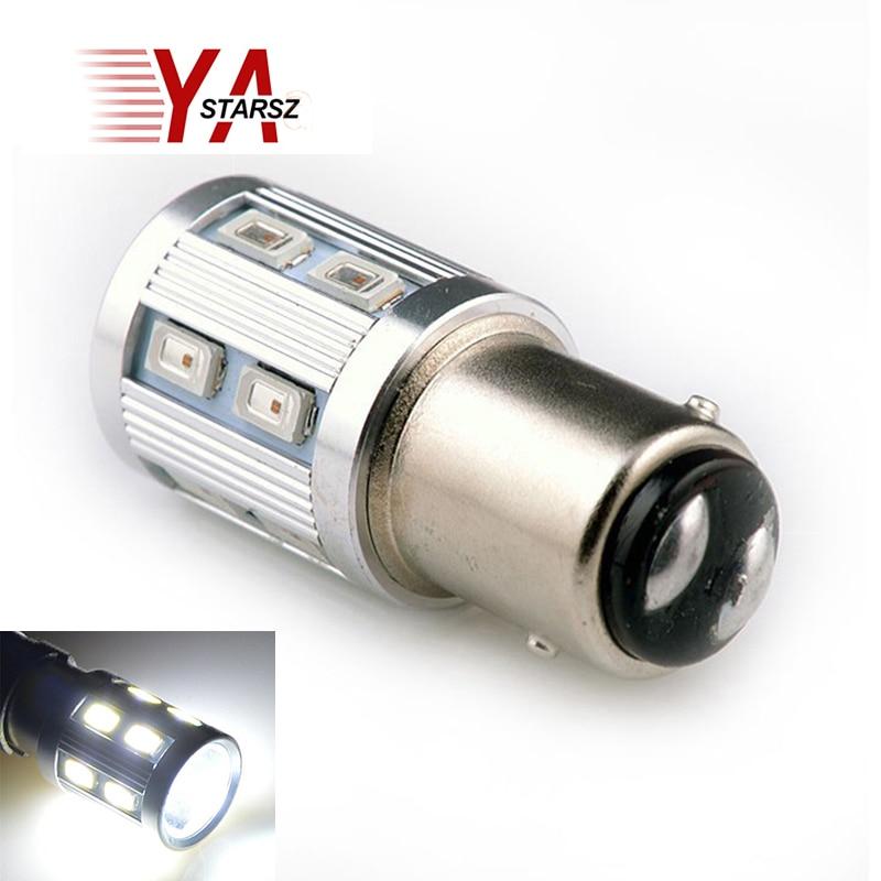 1pcs 1157 13 5630 5730 SMD BAY15D led High Power lamp car bulbs brake Lights Reverse Lamp Source parking 12V White Red Yellow