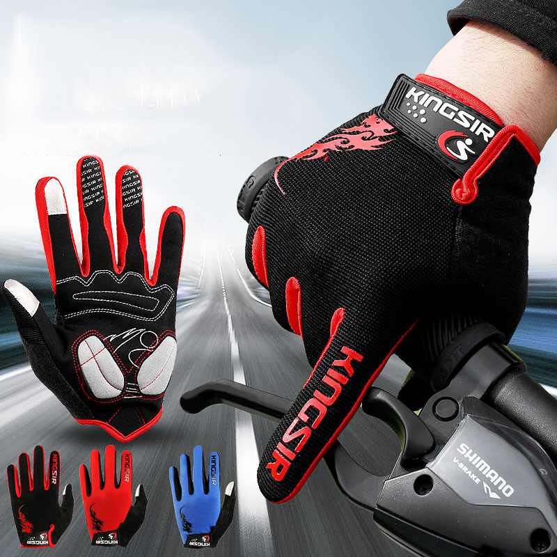 Autumn Winter Men Cycling Gloves Skid Resistance Damping Bicycle Gloves Racing Sports Riding Equipment