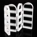 Wholesale 1Pc White/Black/Transparent Plastic Folding Screen Earring Jewelry Display Stand Holder Rack With 240 Holes