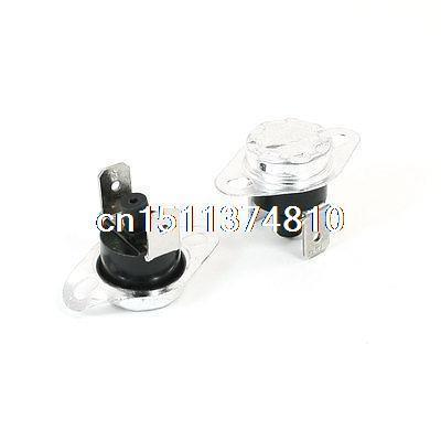 250V 10A NC 75C Manual Reset Temperature Switch Thermostat KSD301 2 Pcs 5 x 75c manual reset thermostat normal closed temperature switch 250v 10a