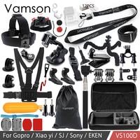 Vamson For Gopro Hero 6 5 4 Accessories Kit For Xiaomi Yi 4k For SJCAM M10