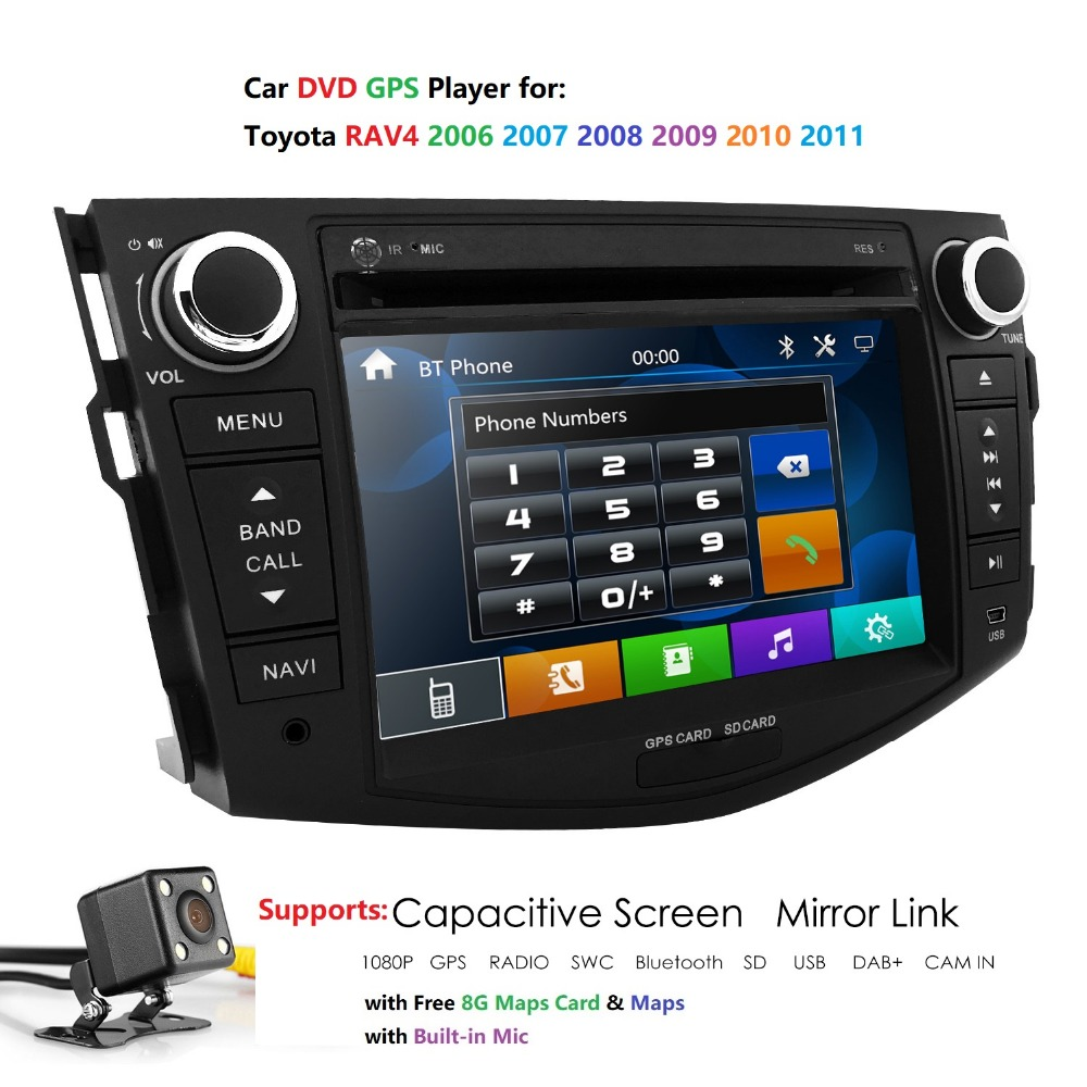 2 din car dvd player for Toyota RAV4 <font><b>Rav</b></font> <font><b>4</b></font> 2007 2008 2009 2010 <font><b>2011</b></font> Radio tape recorder gps rds dab+ auto audio radio multimedia image