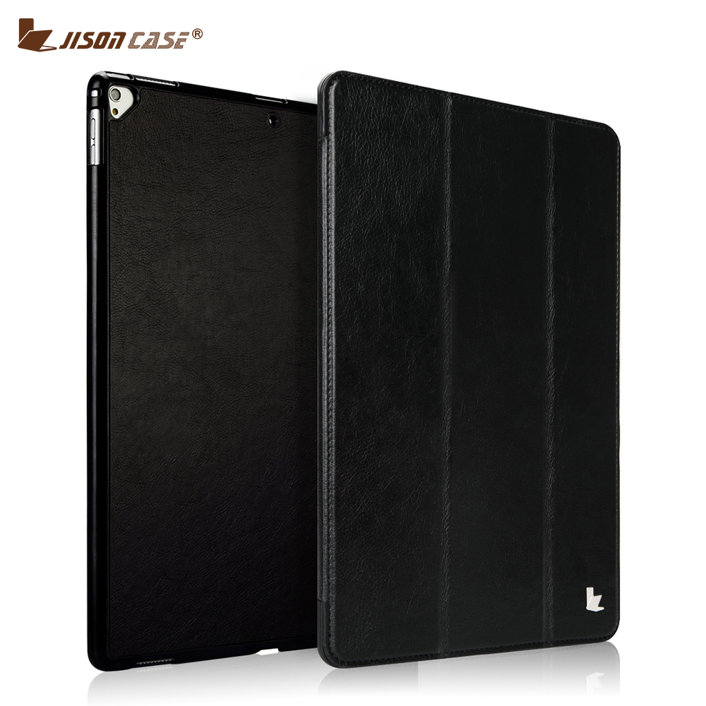 Smart Case Cover for iPad Pro 12.9 2017 Case Jisoncase PU Leather Smart Tablet Cover for Apple iPad 12.9 inch Capa Auto Wake New