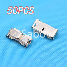 High Quality 50pcs HI-Speed Micro USB 3.0 Female 10Pin DIP SMT Socket PCB Soldering Connectors(China (Mainland))