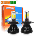 CNSUNNYLIGHT H4 COB LED Car Headlight 8000LM Hi/lo Beam Xenon White Head Fog Light For Fords BMWs Mercedes-benz Nissan Toyota