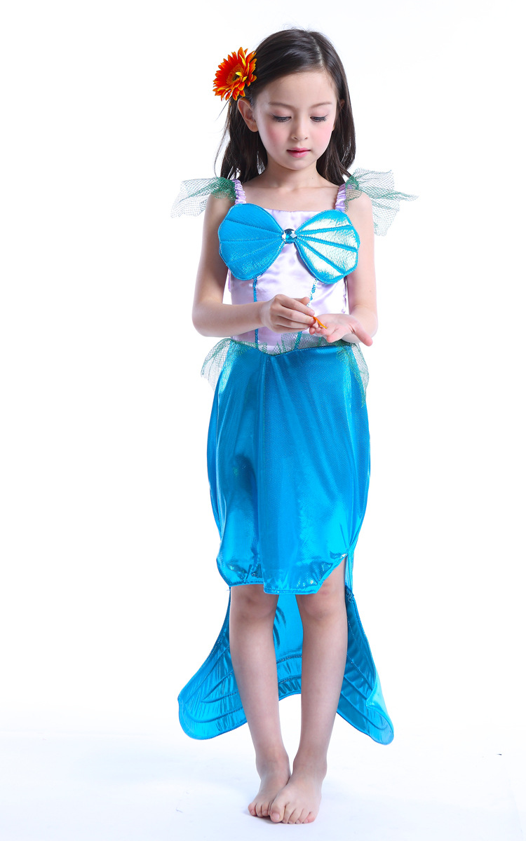 2016 halloweenchristmas costumes kids little mermaid ariel princess costume girl cosplay dresses child fanny - Mermaid Halloween Costume For Kids