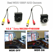 HD 1080P AHD Mini Color CCTV Starlight Surveillance Camera Sony290+8550 Real WDR Super Wide Dynamic Home Security Video Camera все цены