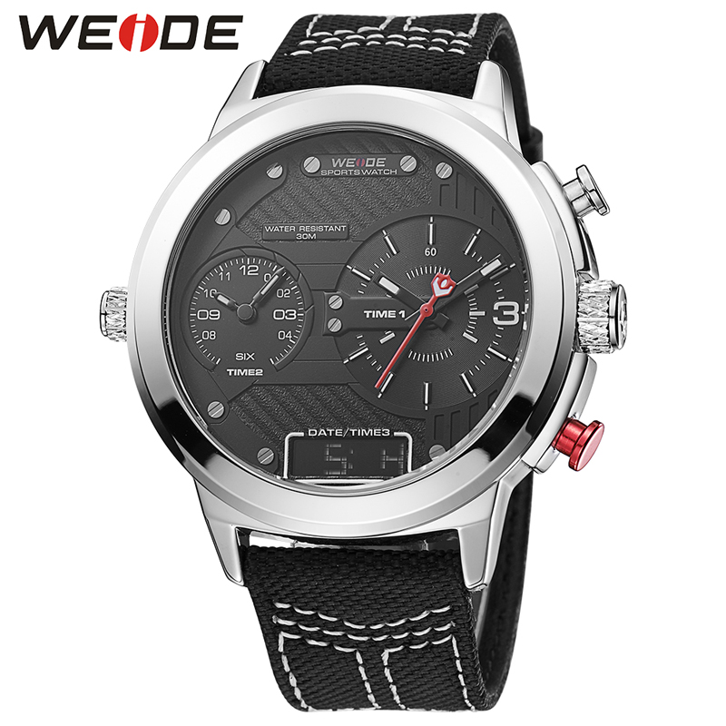 WEIDE Top Brand Fashion Men Sports Watches Men's Quartz Analog Male Military Wrist Watch Casual Dress Clock Relogio Masculino