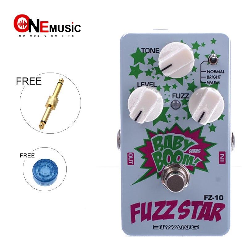 Biyang Baby Boom FZ-10 pédale de guitare électrique trois modèles Fuzz Star distorsion effet pédale véritable dérivation avec connecteur de pédale