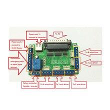 MACH3 5 оси ЧПУ коммутационная плата интерфейсная плата для шагового двигателя Драйвер+ один usb кабель