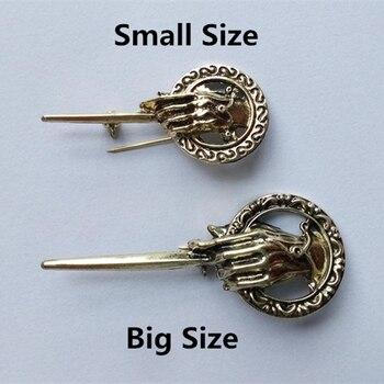 Игра трона брошь песня Льда и Огня рука короля палец знак Pin винтажная Панк Мода фильм ювелирные изделия для женщин оптовая продажа